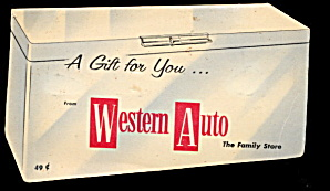 1950s Western Auto Diecut Sewing Needle Case