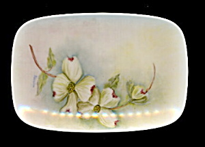 """rosella"" Signed Floral Pin Tray - Early"