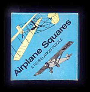 Vintage Airplane Squares Brain Puzzle In Box