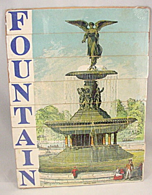 Early 1900s Wooden 'fountain' Letter Strip Puzzle