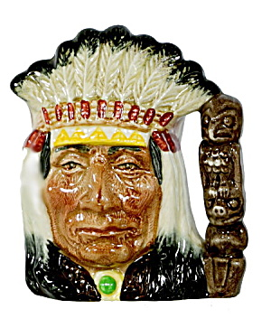 Royal Doulton 'indian Chief' Character Toby Jug