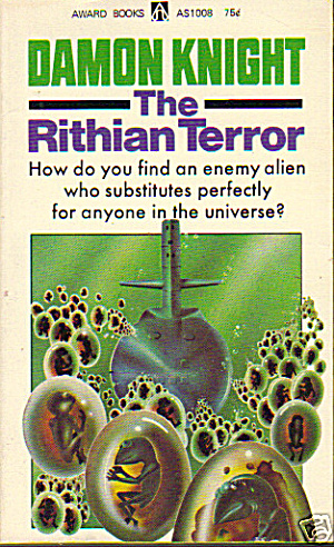 "1965 ""the Rithian Terror"" Knight Sci-fi Book"