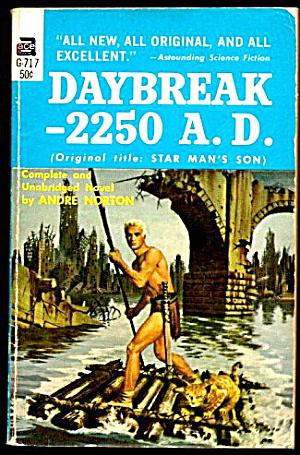 1952 'daybreak - 2250 A.d.' Andre Norton Ace Book