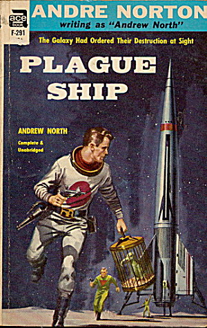 1956 'plague Ship' Andre Norton Ace Book