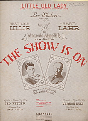 1936 'the Show Is On' Musical Sheet Music
