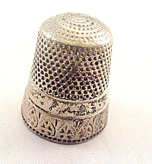 Sterling Silver Upside Down Hearts Rim Thimble