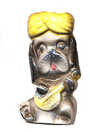 Great 1950s Japan Dog Playing Banjo Toothpick Holder