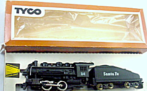 Tyco Ho 24 Santa Fe Locomotive & Tender In Box