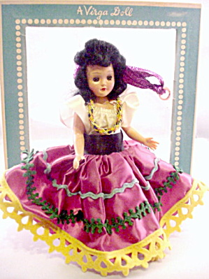 Virga Doll Hard Plastic 1950s Spanish Dancer In Box