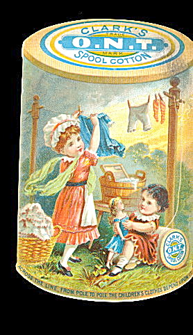 1880s Diecut Clark's Spool Cotton Thread Trade Card