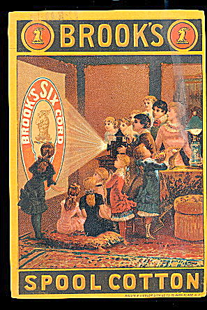 1880s Brooks Spool Cotton Trade Card