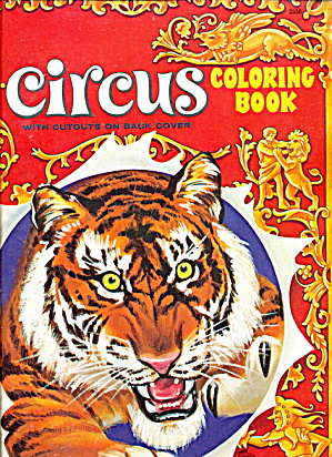 1950s Saalfield Circus Coloring Book