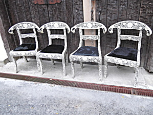 Camel Bone Ram Head Chairs