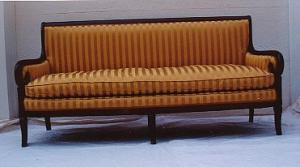 Empire Mahogany Sroll-arm Sofa