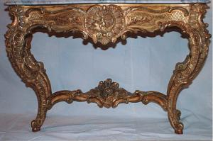 French Furniture Marble Top Console Table