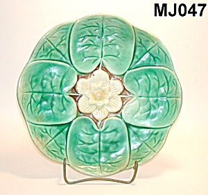 "8 3/4"" Majolica Water Lily Plate"