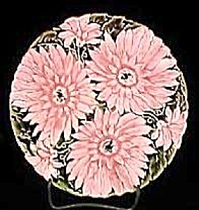 "7 3/4"" Majolica Floral Plate"