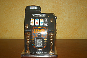 Golden Saloon Slot Machine Bank