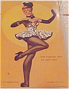Dancing Girl Pinup Mutoscope Card