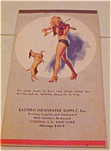 Earl Moran Pinup Notepad With Dog 1949