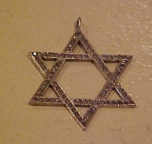 Sterling Silver Marcasite Jewish Star Charm