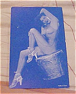 Pin Up Postcard With Blue Tint