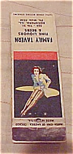 Pin Up Matchbook Cover