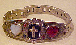 Religious Bracelet With Hearts
