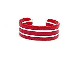 Red And White Striped Cuff