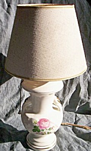 Vintage Small Lamp Rose Transfer