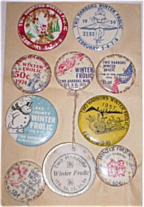 Two Harbors Mn Winter Frolic Buttons 1950-1976 Free Shi