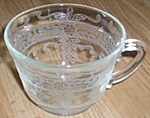 "Macbeth-evans ""s"" Pattern Stippled Rose Band Coffee Cup And Saucer"