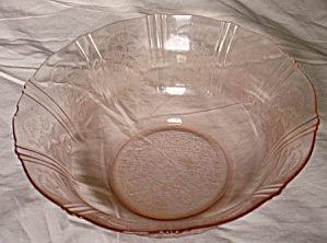 Macbeth-evans American Sweetheart Large Pink Bowl