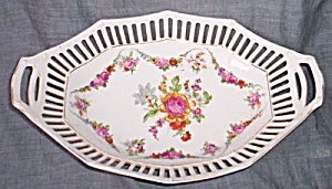 Antique Porcelain Pierced Rim Relish Germany