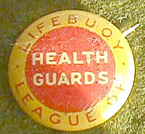 Lifebuoy League Of Health Guards Pin Back Lapel Free Shipping