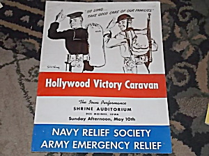 Hollywood Victory Caravan Des Moines Iowa Playbill