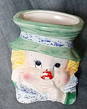 Napcoware Clown Head Vase