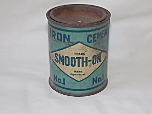 Vintage No.1 Iron Cement Smooth On Tin