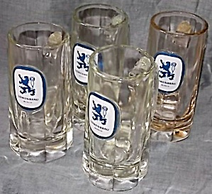 4 Lowenbrau 12 Oz Beer Mugs