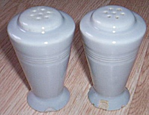 Pair Vintage Cone Shakers Gray