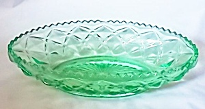 Vaseline Glass Oval Relish Us Glass Williamsburg