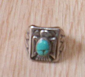 Vintage Bell Sterling And Turquoise Ring