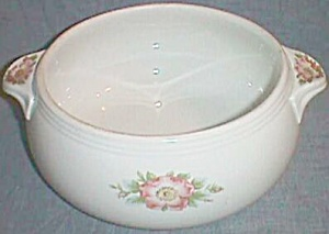 Hall China Rose White 2 ½ Qt Tab Handle Casserole