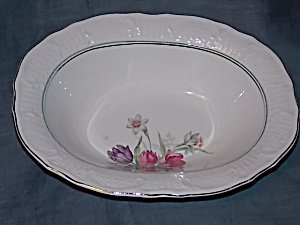 Vogue Washington Colonial Vegetable Dish Tulips