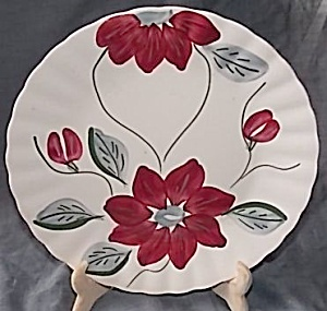 Blue Ridge Pottery Dinner Plate Poinsettia