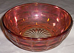 Large Carnival Glass Bowl Boxed Diamond