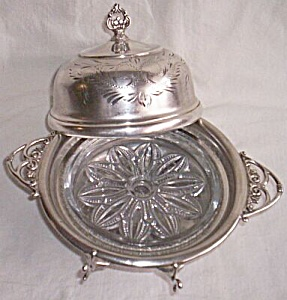 Van Bergh Silver Plate Covered Butter