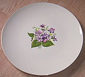 1952 Knowles Dinner Plate Wood Violets