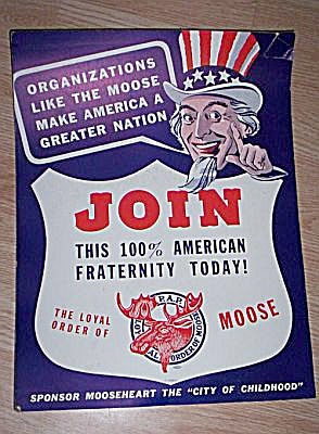 1940's Moose Club Recruiting Poster