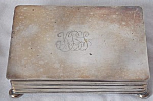 Vintage Silver Plated Trinket Box